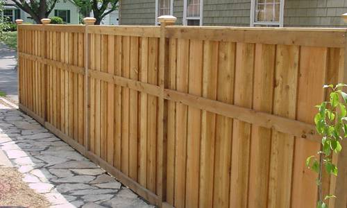 how to build a 8' wood fence