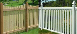 Picket Wood PVC Fencing