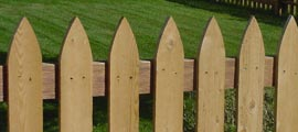 Picket Wood Fence