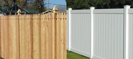 Privacy Wood Vinyl Fencing