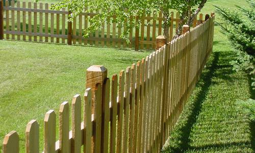 1 … Convex Picket Fence ... - Wood Picket Fence Panels Roselawnlutheran