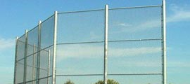 Athletic Baseball Field Fencing