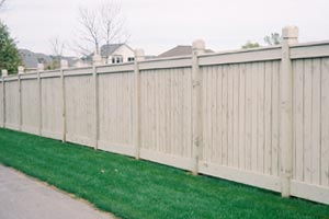 Twin Cities Commercial Wood Fence Installation