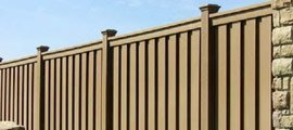 Composite Privacy Fence Installation
