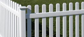 Traditional Style Vinyl Picket Fencing