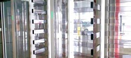 Transparent Turnstile Gates