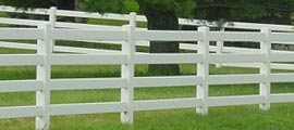 Post Rail Vinyl PVC Fence