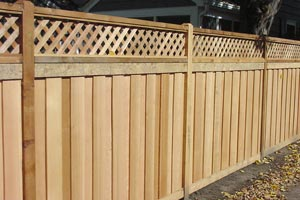 Wooden Patio Fence Installation