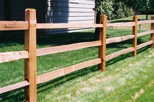 Wooden Post Rail Fence Twin Cities